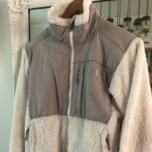 North face small full zip womens white jacket coat